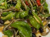 青龍椒(糯米椒)炒小魚乾