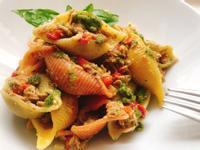 🇮🇹青醬鮪魚甜椒貝殻麵