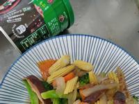 香菇玉米筍炒青花