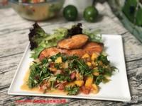香煎鮭魚佐芒果莎莎醬