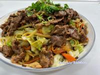 台式炒麵-炒牛肉義大利麵