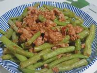 長豆炒肉末
