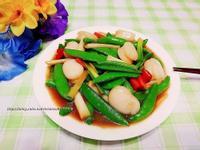 家常菜~生炒鮮干貝