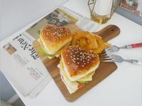 好夢幻「愛心漢堡麵包」可愛到不行 ♡