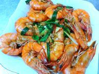塔香蔥爆鮮蝦-3分鐘上菜