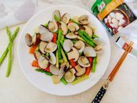 鮮菇蛤蠣炒蘆筍