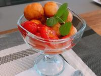夏日涼爽料理-蜂蜜蕃茄黃金地瓜球