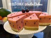 西瓜造型戚風蛋糕