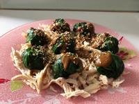 雞絲麻醬菠菜球
