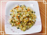 【低蛋白料理】越之白米玉米翡翠蛋炒飯