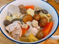 栗子干貝鮮蔬雞湯