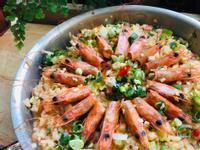 華麗蝦頭燉飯