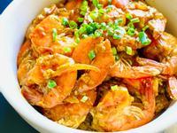 洋蔥咖哩蛋炒蝦