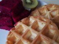 #鬆餅+水果