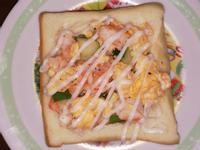 鮮蝦脆瓜沙拉生土司