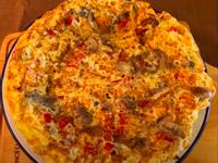 彩椒蘑菇烘蛋