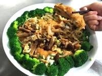鮮菇滑蛋厚切鯛魚排