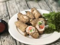 銀芽韭菜雞肉捲