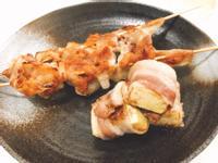 下酒菜!味噌烤豬肉串+沙茶豆腐卷