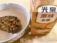 。米漿綠豆湯。