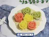 白醬彩色米玫瑰花(影片)