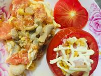 蕃茄炒蘑菇蛋&蝦仁沙拉蕃茄杯
