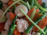 清炒草蝦蘆筍