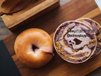 紫薯肉鬆鹹蛋黃貝果