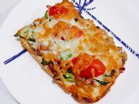 氣炸鍋-快速料理焗烤菇菇吐司pizza