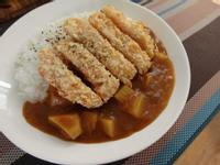 【一個人的廚房】素食咖哩&氣炸花枝蝦排