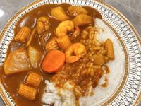 洋蔥蝦仁咖哩飯