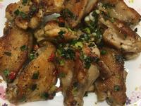 辣蔥蒜乾煎雞翅