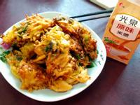 古早味菜炸(花生米漿+地瓜+九層塔)