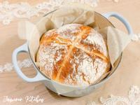 烘焙麵包🥯牛奶歐式麵包(鑄鐵鍋版)