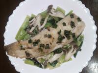 煎椒鹽雕魚+蔬菜