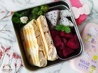 起司柚香雞肉壓烤餅〞冷凍蛋餅皮做快速早餐
