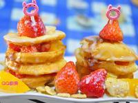 【草莓就愛鷹牌煉奶】饅頭草莓水果千層派
