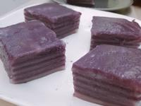 晶瑩剔透紫薯千層糕
