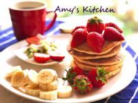 草莓鬆餅(沒有長高高的舒芙蕾)