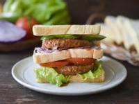 [蔬食]炙燒肉堡排三明治