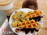 【微甜Brunch】藍莓鬆餅+拿鐵✎圖文