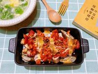烤箱低醣料理|起士雙茄雞胸肉