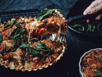 不老鮭蘑菇甜椒鹹派