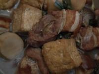 滷油豆腐五花肉