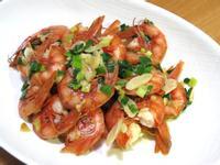 蒜炒胭脂蝦