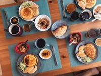 日清雞胸肉鬆餅大早餐