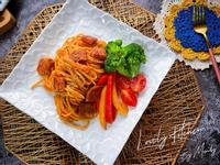 小肉排茄汁義大利麵【新餐肉】 🍅