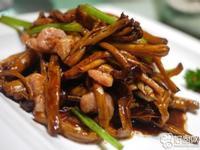 茶樹菇炒鹹肉