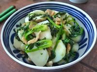 菠菜鹹肉炒年糕