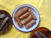 香煎新餐肉蔬食捲